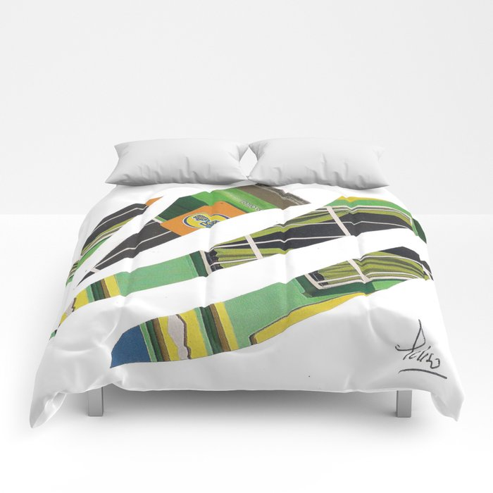 Collage green multicolor 5409 Comforters