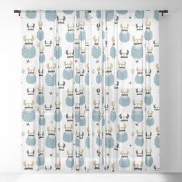 warriors Prints patterns Sheer Curtain
