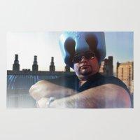 superheroes Area & Throw Rugs featuring Superheroes SF by Sookie Endo