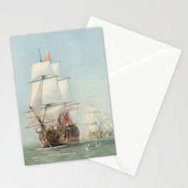 Vintage Ship Art Stationery Cards