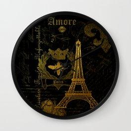 Paris Amore Wall Clock