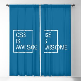CSS Is Awesome Funny Geek Quote Blackout Curtain