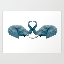 elephants love Art Print