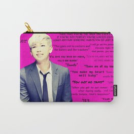 Bangtan Boys Rap Monster Quotes Carry-All Pouch