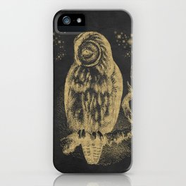 The golden owl iPhone Case