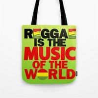 reggae Tote Bags featuring Reggae Music by Ahfimi Brands