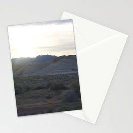 On The Road: Rare Lush Greenery At Sundown In Death Valley Spring Bloom 2016 Stationery Cards