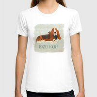 the hound T-shirts featuring Basset Hound by 52 Dogs