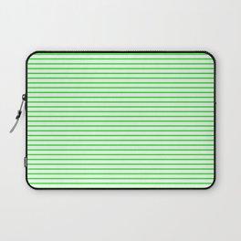 Thin Green Lines Horizontal Laptop Sleeve