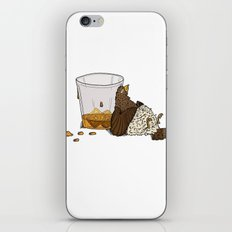 Thirsty Grouse - Colored with White Background iPhone & iPod Skin
