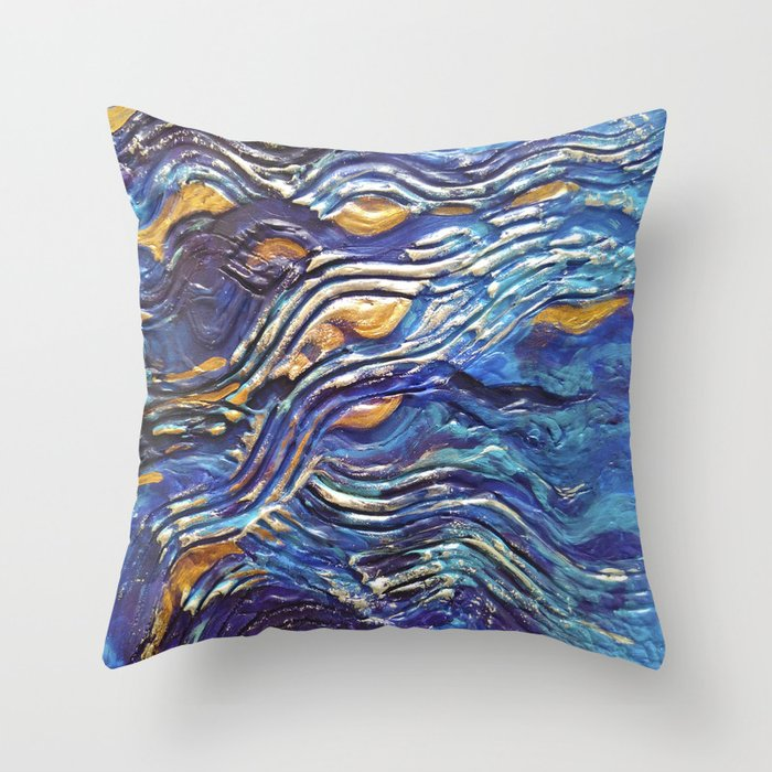 Abstract nautical background Throw Pillow