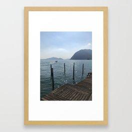 Sparkling lake Monte Isola Framed Art Print