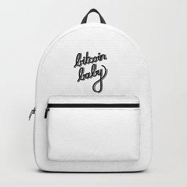 bitcoin baby   [black] Backpack