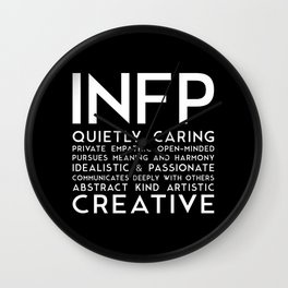 INFP (black version) Wall Clock