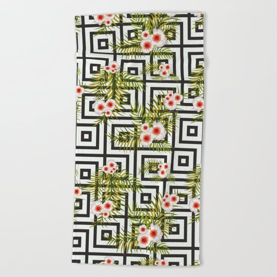Geometric Jungle #society6 #decor #buyart Beach Towel