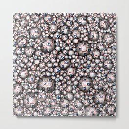 Abstract 3D Stars Metal Print