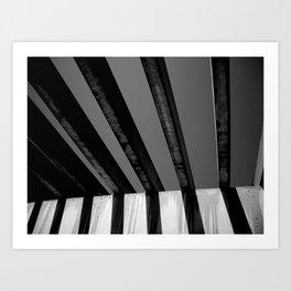 Shadows and Bars Art Print