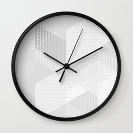messy geometry in white Wall Clock