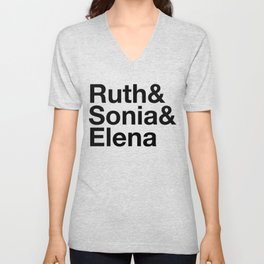 Ruth & Sonia & Elena Unisex V-Neck