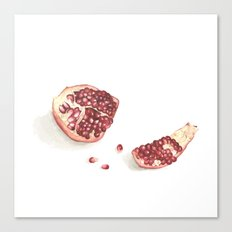 What I've been eating - pomegranate Canvas Print