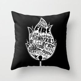 Lab No. 4 Chances Will Burn Very Briefly Stephen R. Covey Motivational Quotes Throw Pillow