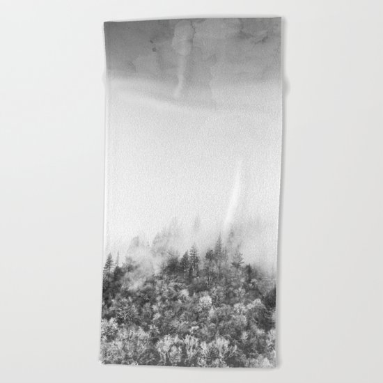 Monochromatic Landscape Beach Towel