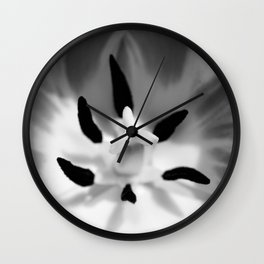 Tulip In BW Wall Clock