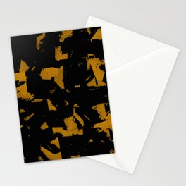 Looking For Gold - Abstract gold and black painting Stationery Cards