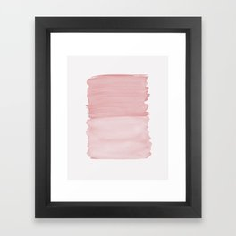 Blush Abstract Minimalism #1 #minimal #ink #decor #art #society6 Framed Art Print