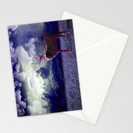 Le cerf dans les nuages Stationery Cards