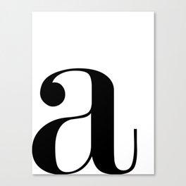 "Monogram Series Letter ""a""  Canvas Print"