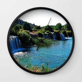 Lagoons de Ruidera Wall Clock