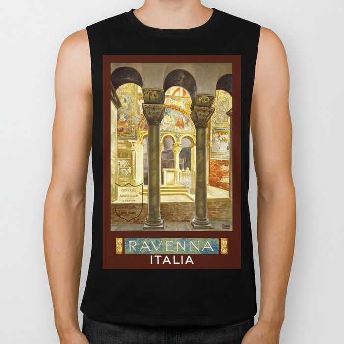 Vintage Ravenna Italy Travel Biker Tank