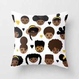Girls and Boys Throw Pillow