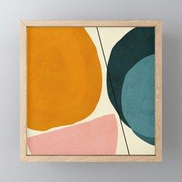 shapes geometric minimal painting abstract Framed Mini Art Print