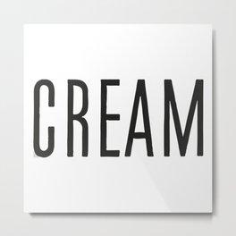 Cream Metal Print