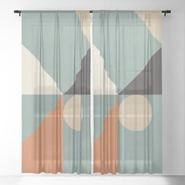 Mid Century 08C Sheer Curtain
