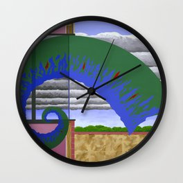 Less Certain Conditions Wall Clock