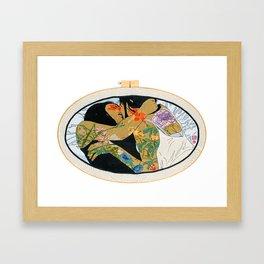 Lala Girls (with hoop) Framed Art Print