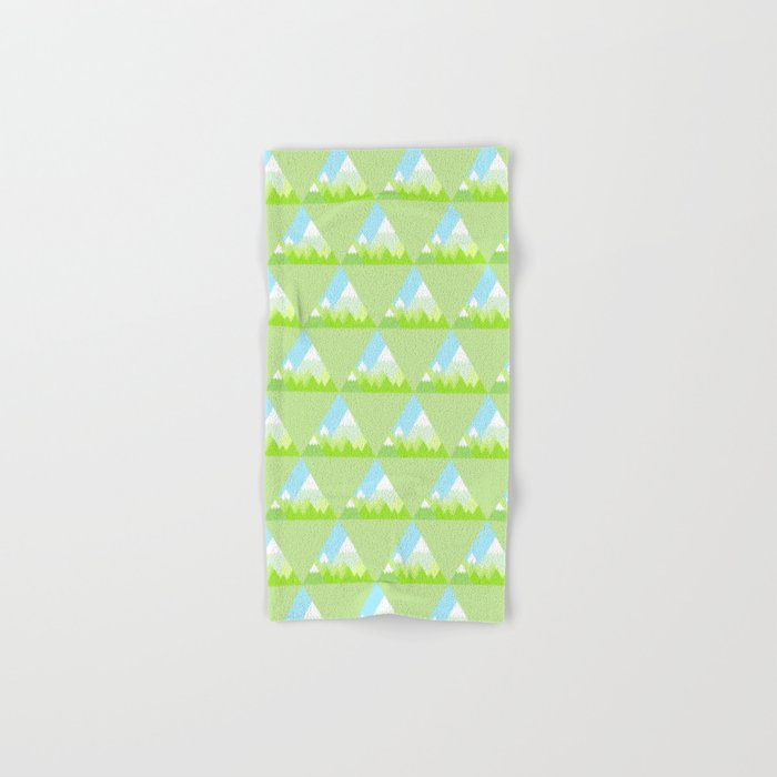 national park geometric pattern Hand & Bath Towel
