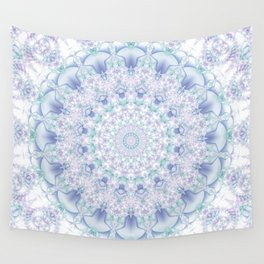 Purple, Blue, and Green Pastel Mandala Wall Tapestry