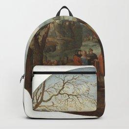Abel Grimmer - Landscape with biblical scene Backpack