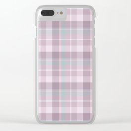 Winter Plaid 2 Clear iPhone Case