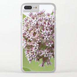Milkweed Flowers Clear iPhone Case