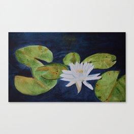 Muskoka Lilypad Flower Canvas Print