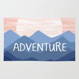 Adventure Sunset Vector Landscape Rug