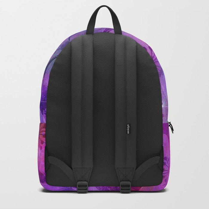 Fancy Floral watercolor pattern pink Backpack