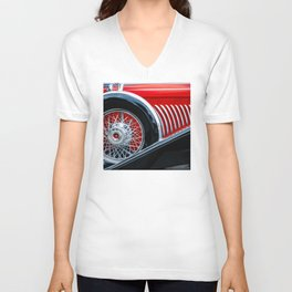 1932 Red and Black Duesenberg Phaeton Unisex V-Neck