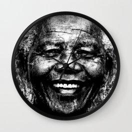 NELSON MANDELA (BLACK & WHITE VERSION) Wall Clock