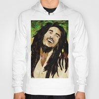 marley Hoodies featuring Marley Collage by Emily Harris